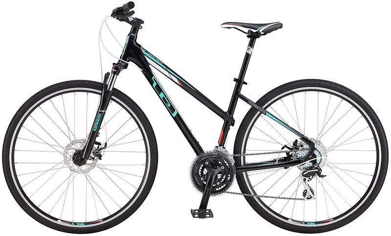 Дешёвый женский гибридный велосипед GT Transeo 4.0