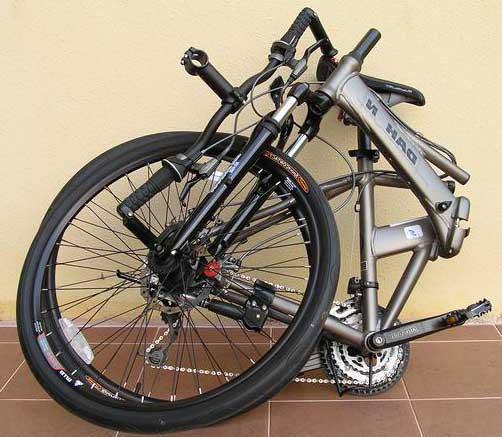 Велосипед Dahon Matrix в сложенном состоянии