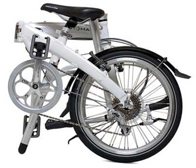 Велосипед Dahon Mu P8 в сложенном состоянии