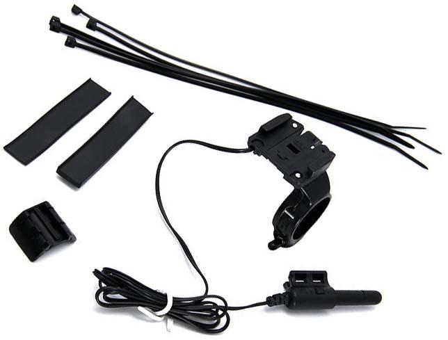 Комплект из крепления и датчика для велокомпьютера Cateye Velo 8 для установки по центру с длинным проводом