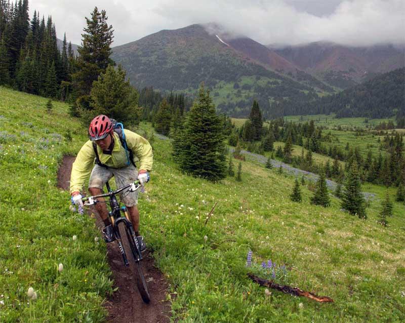 Горный велосипед с покрышками Continental Mountain King II 2.2