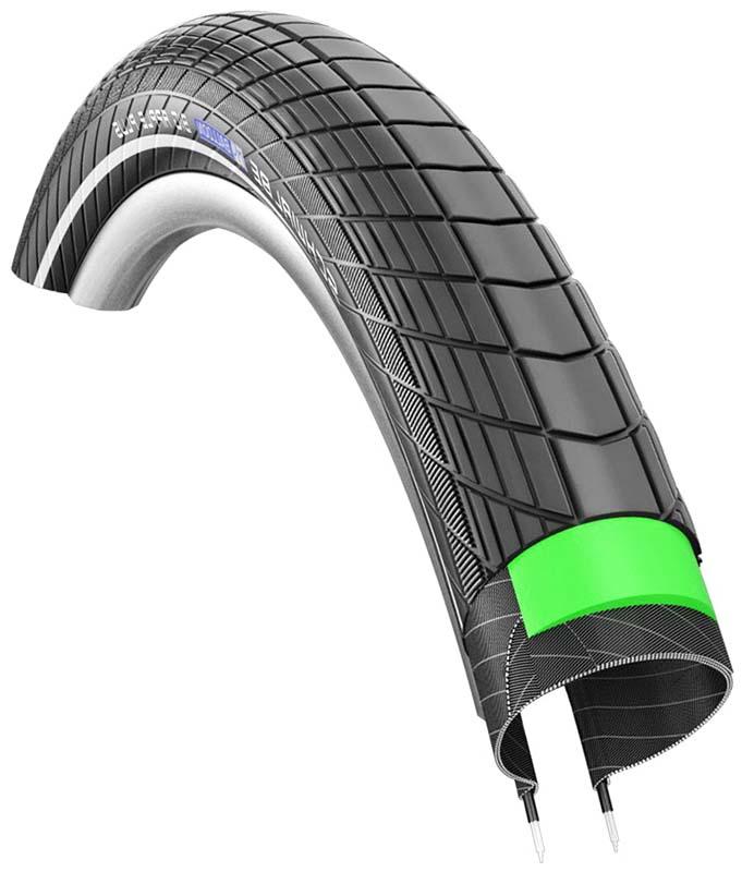 Балунные покрышки для велосипеда Schwalbe Big Apple LiteSkin