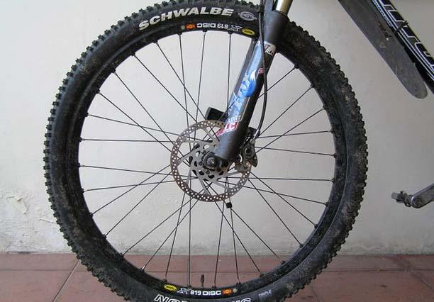 Покрышки Schwalbe Nobby Nic на горном велосипеде