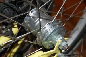 Планетарная передача на складном велосипеде