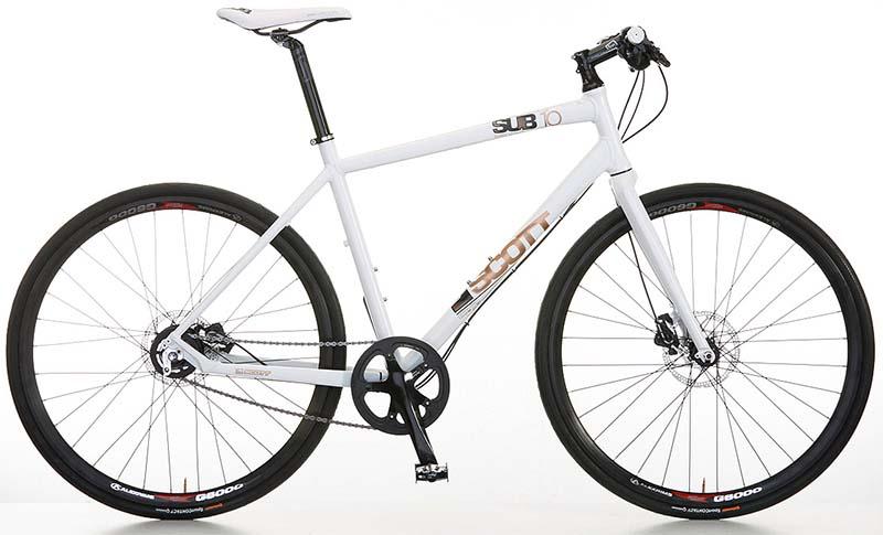 Гибридный велосипед Scott SUB 10 с планетарной втулкой Shimano Alfine