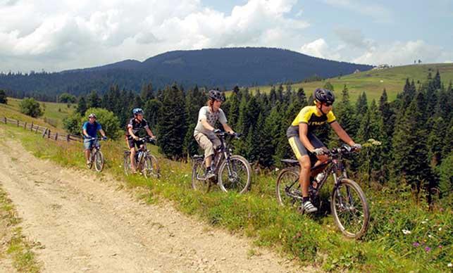 Отдых в Карпатах летом для велосипедистов