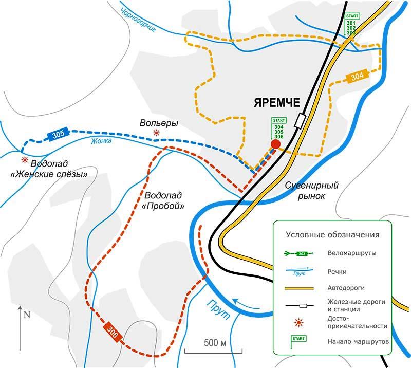 Карта велосипедного похода Карпатами