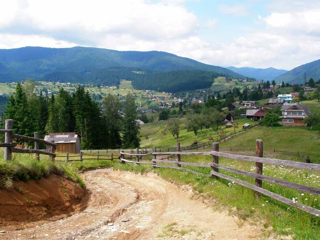 Горное селов Украинских Карпатах
