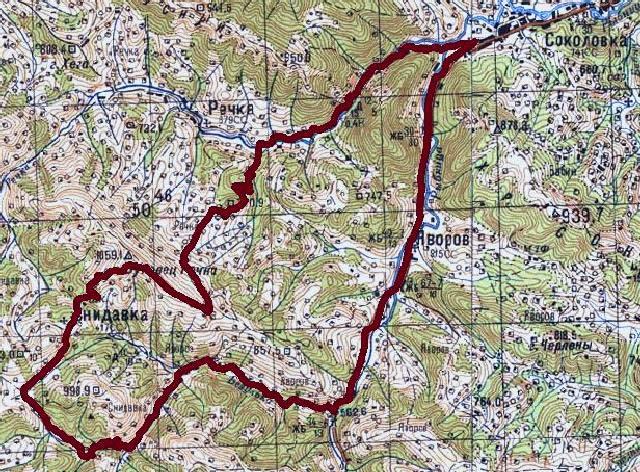 Карта туристического велосипедного маршрута «Буковец-Рицкий»